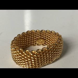 Gold Band Fashion Ring Size 7